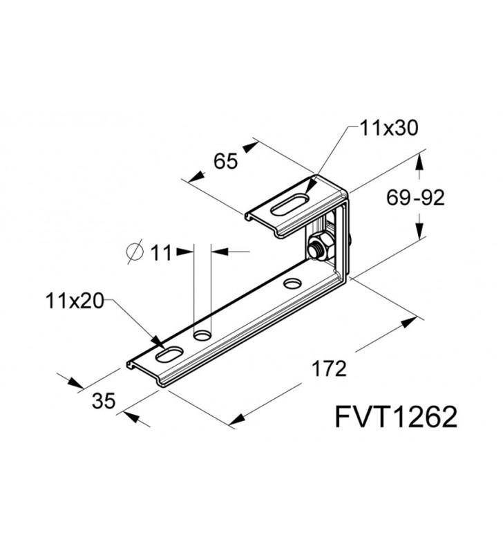 Kit Struttura per 10 pannelli 2 file su tetto a coppi